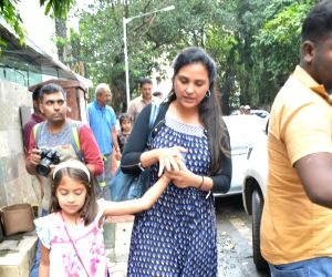 Lara Dutta and Saira Bhupathi seen at Mumbai's Bandra