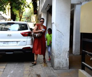 Lara Dutta seen at a Bandra clinic