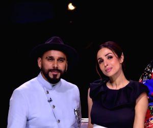Malaika Arora, Badshah on the sets of Dance India Dance Season 7