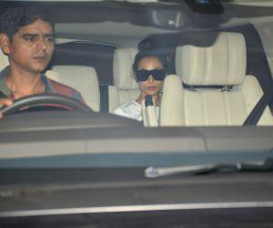 Malaika Arora seen at filmmaker Karan Johar's residence