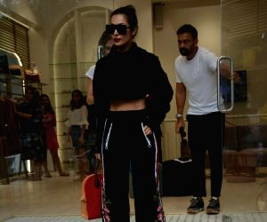 Malaika Arora seen at Mumbai's Bandra