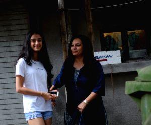 Manasi Joshi Roy with her daughter seen at Juhu