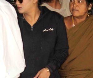 Actress Mumaith Khan appear before SIT