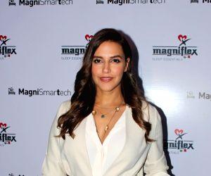 Neha, Mahima at the launch of a mattress brand