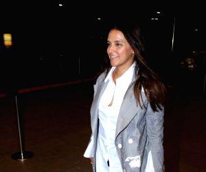 Neha Dhupia spotted at Airport  in Mumbai