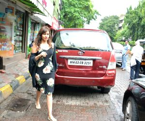 Neha Sharma seen at Mumbai's Bandra