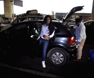 Niharica Raizada seen at airport