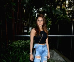 Nushrat Bharucha seen at Mumbai's Bandra