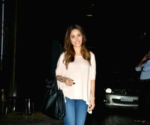 Nushrat Bharucha seen at Mumbai's Khar