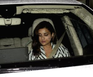 Alia, Parineeti at seen at actress Priyanka Chopra's house
