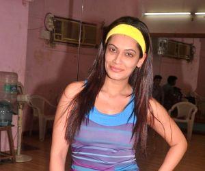 Actress Payal Rohatgi rehearses for a New Year Show