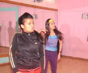 Actress Payal Rohatgi rehearses for a New Year Show