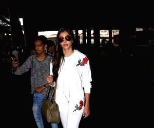 Pooja Hegde seen at airport