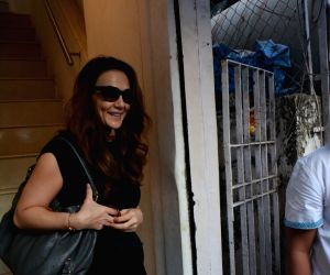 Preity Zinta seen at a salon