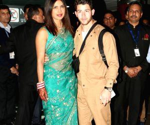 Priyanka Chopra, Nick Jonas arrive in national capital