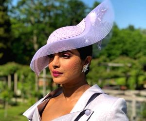 Actress Priyanka Chopra arrives to attend her friend and actress Meghan Markle's wedding at the St. George's Chapel.