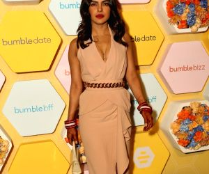 Actress Priyanka Chopra during the launch party of her new project dating app Bumble in New Delhi on Dec 5, 2018.