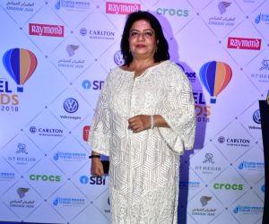 Actress Priyanka Chopra's mother Madhu Chopra at the Lonely Planet Magazine India Travel Awards 2018 in Mumbai on May 17, 2018.