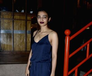 Radhika Apte during the launch of a restaurant