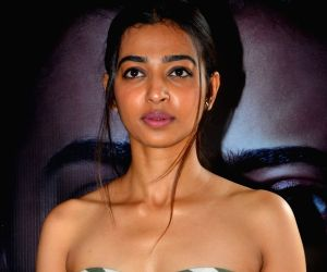 : Mumbai: Radhika Apte during the promotion of he comming film Phobia