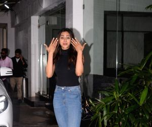Rakul Preet Singh seen at a recording studio