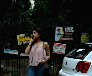 Rhea Chakraborty seen at Mumbai's Bandra