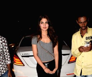 Rhea Chakraborty seen at airport