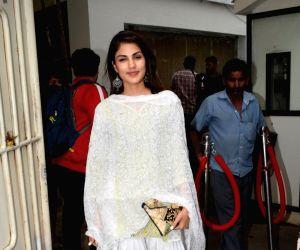 Rhea Chakraborty seen at Mumbai's Juhu