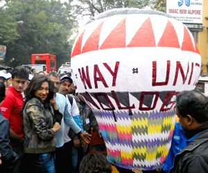Actress Rituparna Sengupta participates in 'Walk Kolkata Walk 2013'