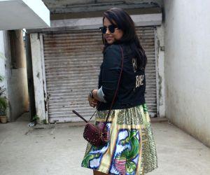 Sameera Reddy seen at Mumbai's Bandra
