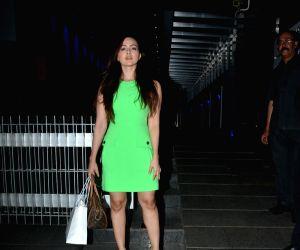Sana Khan seen at a restaurant