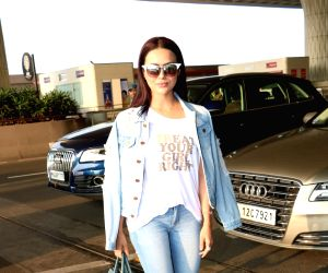 Sana Khan spotted at airport