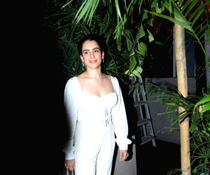 Sanya Malhotra seen at Juhu restaurant