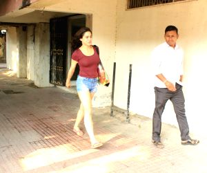 Sara Ali Khan seen at a gym