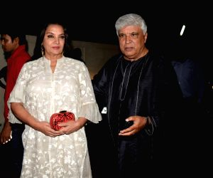 "Special screening of film ""Gold"" - Shabana Azmi and Javed Akhtar"