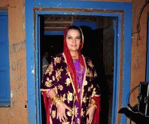 Shabana Azmi on the sets of Ammaji tv serial