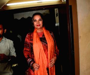 Shabana Azmi seen at a cinema theatre