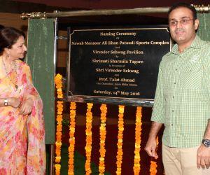 Nawab Mansoor Ali Khan Pataudi Complex and Virender Sehwag Pavilion unveiled at Jamia
