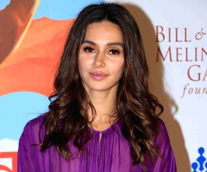 "Actress Shibani Dandekar at ""Lalkaar- Main Kuch Bhi Kar Sakti Hoon"" concert organised by Farhan Akhtar in Mumbai on Feb 14, 2019."