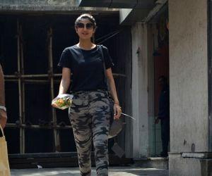 Shilpa Shetty Kundra seen at Mumbai's Bandra
