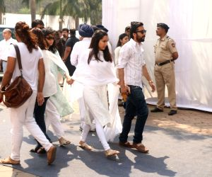 Actress Shraddha Kapoor along with her brother Siddhanth Kapoor at Celebration Sports Club to pay their last respects to the late actress Sridevi in Mumbai on Feb 28, 2018. After the ...