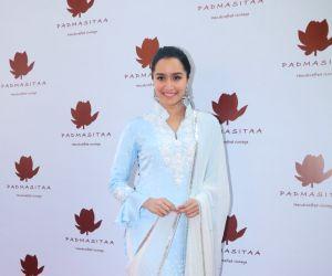 Actress Shraddha Kapoor at the launch of Padmasitaa clothing collection in Mumbai on Jan 25, 2018.