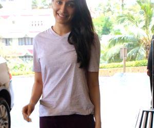 Shraddha Kapoor seen at a Juhu hotel