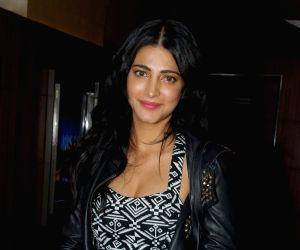Shruti Haasan during the special screening of film Tevar