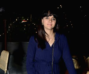 Shruti Seth during the launch of a restaurant