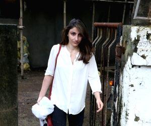Soha Ali Khan seen at a salon