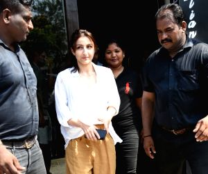 Actress Soha Ali Khan seen at Bandra, in Mumbai on June 9, 2019.