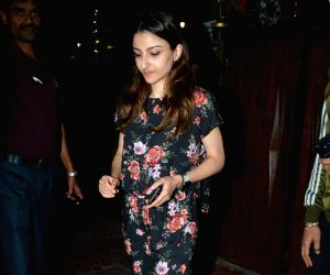 Soha Ali Khan seen at Mumbai's Bandra