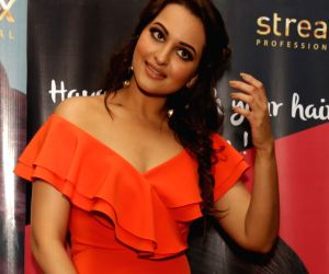 Sonakshi Sinha during a hair show
