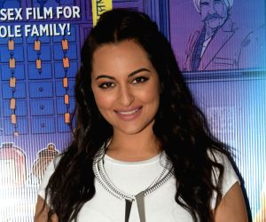 "Actress Sonakshi Sinha during the promotion of her upcoming film ""Khandaani Shafakhana"" in Mumbai, on July 23, 2019."
